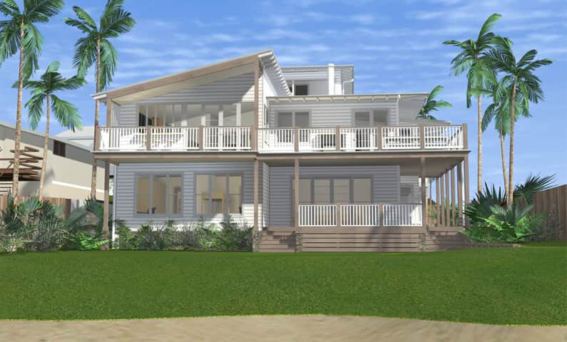 Architect design 3d concept beach house collaroy sydney for Beach house design ideas australia