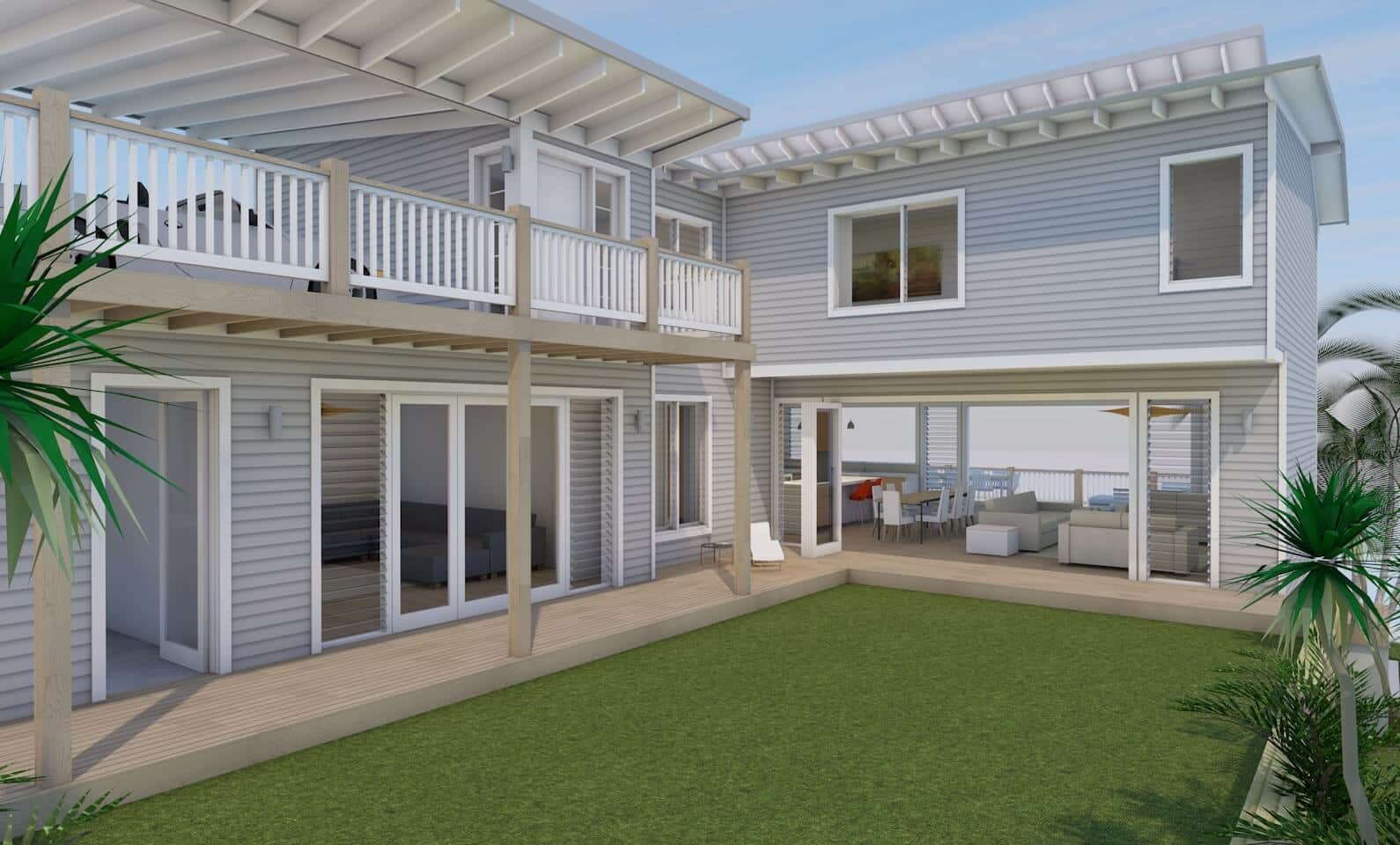 Beach House Freshwater - Courtyard View - New home concept in 3D ...