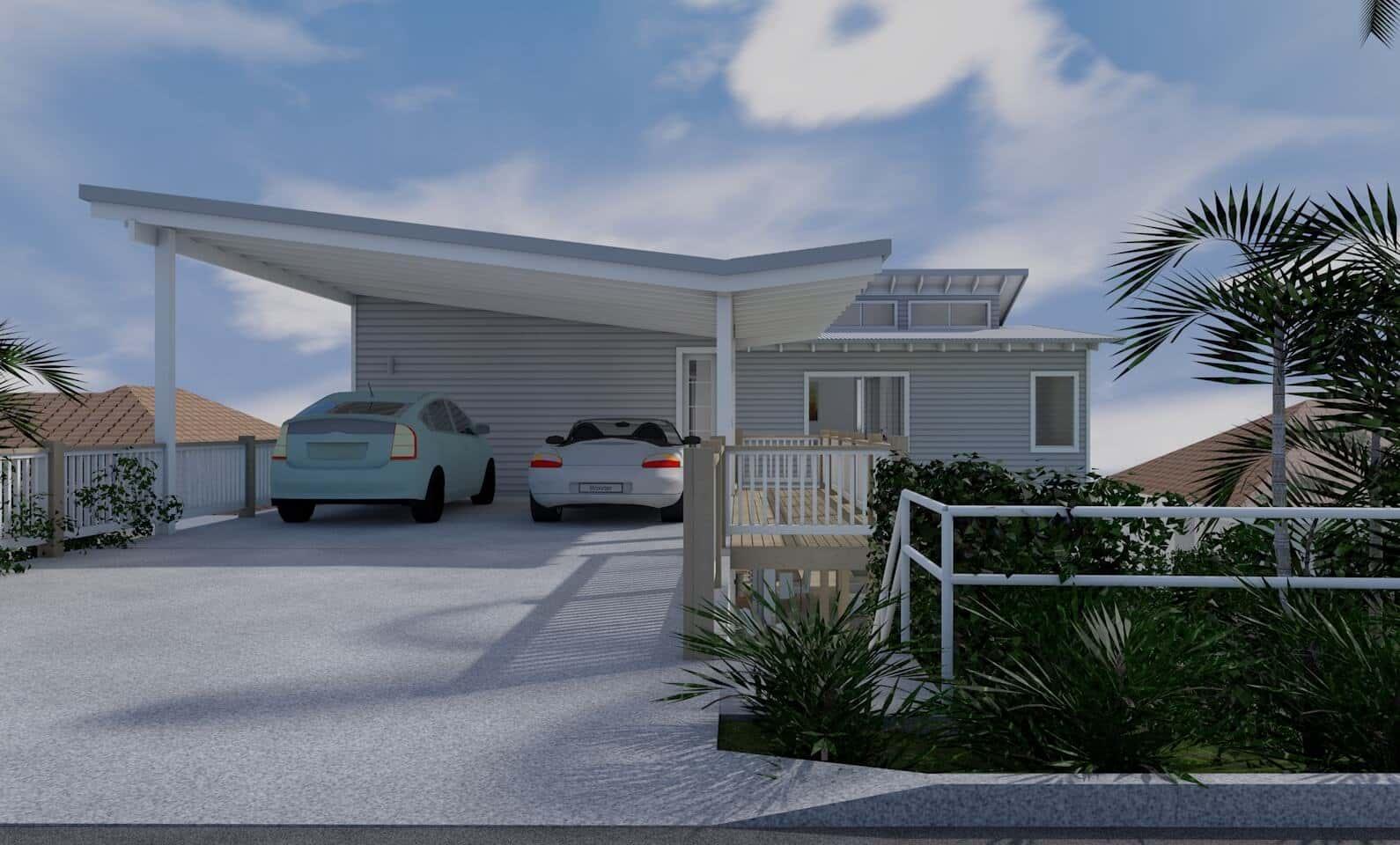 Architect design 3d concept beach house freshwater for Beach house design concept
