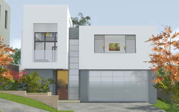 Cube House Seaforth - New house design 3D image by All Australian Architecture