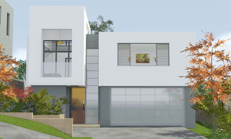 Architect design 3d concept cube house seaforth Cube house plans