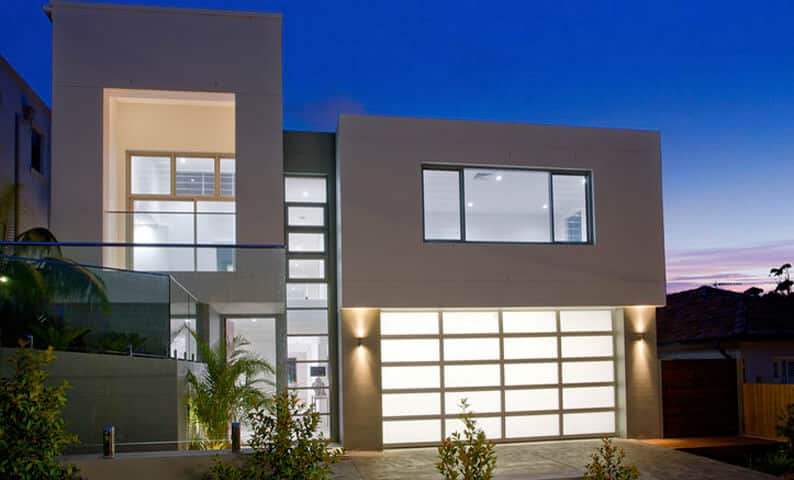 Cube House Seaforth - Completed new home designed by All Australian Architecture