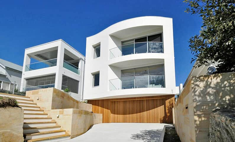 Curve House Queenscliff - Completed new home designed by All Australian Architecture