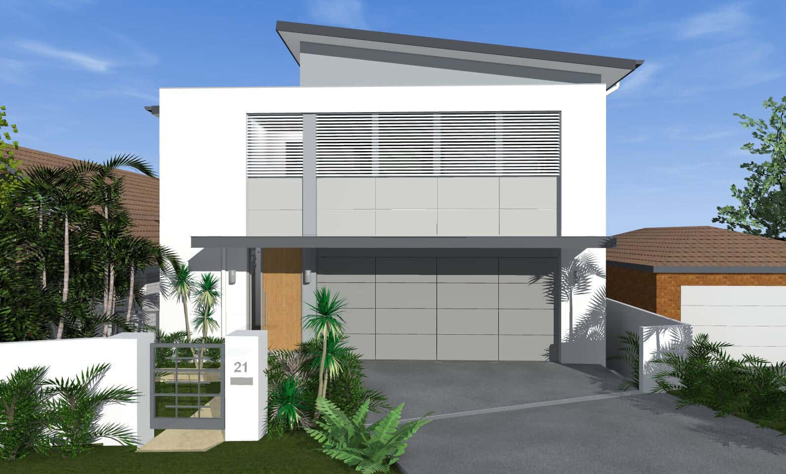 Edge House Collaroy Plateau - New home concept in 3D designed by All Australian Architecture