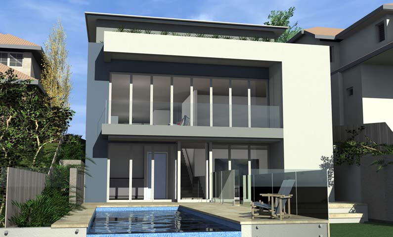 High House Balgowlah Heights - New home concept in 3D designed by All Australian Architecture