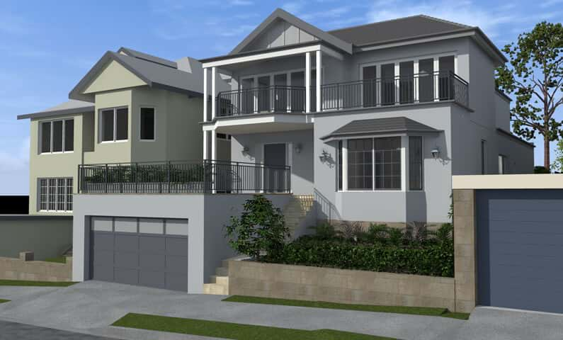 Hopetoun House Vaucluse - New home concept in 3D designed by All Australian Architecture