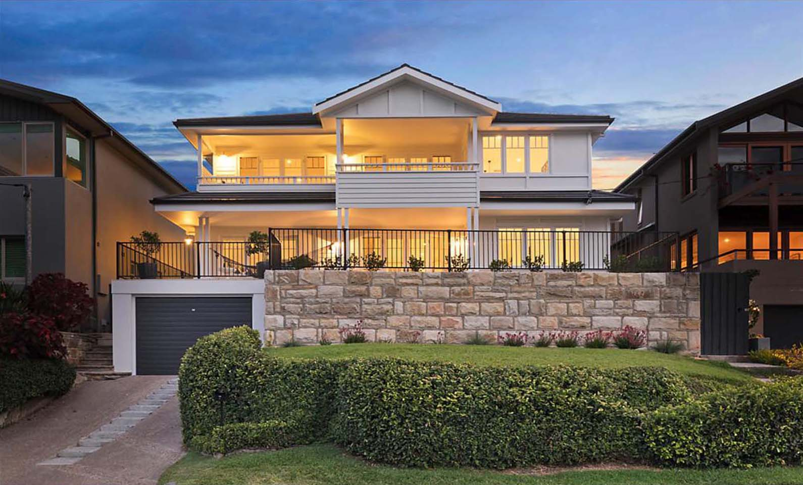 Jellicoe House Balgowlah - View from the lawn - designed by All Australian Architecture