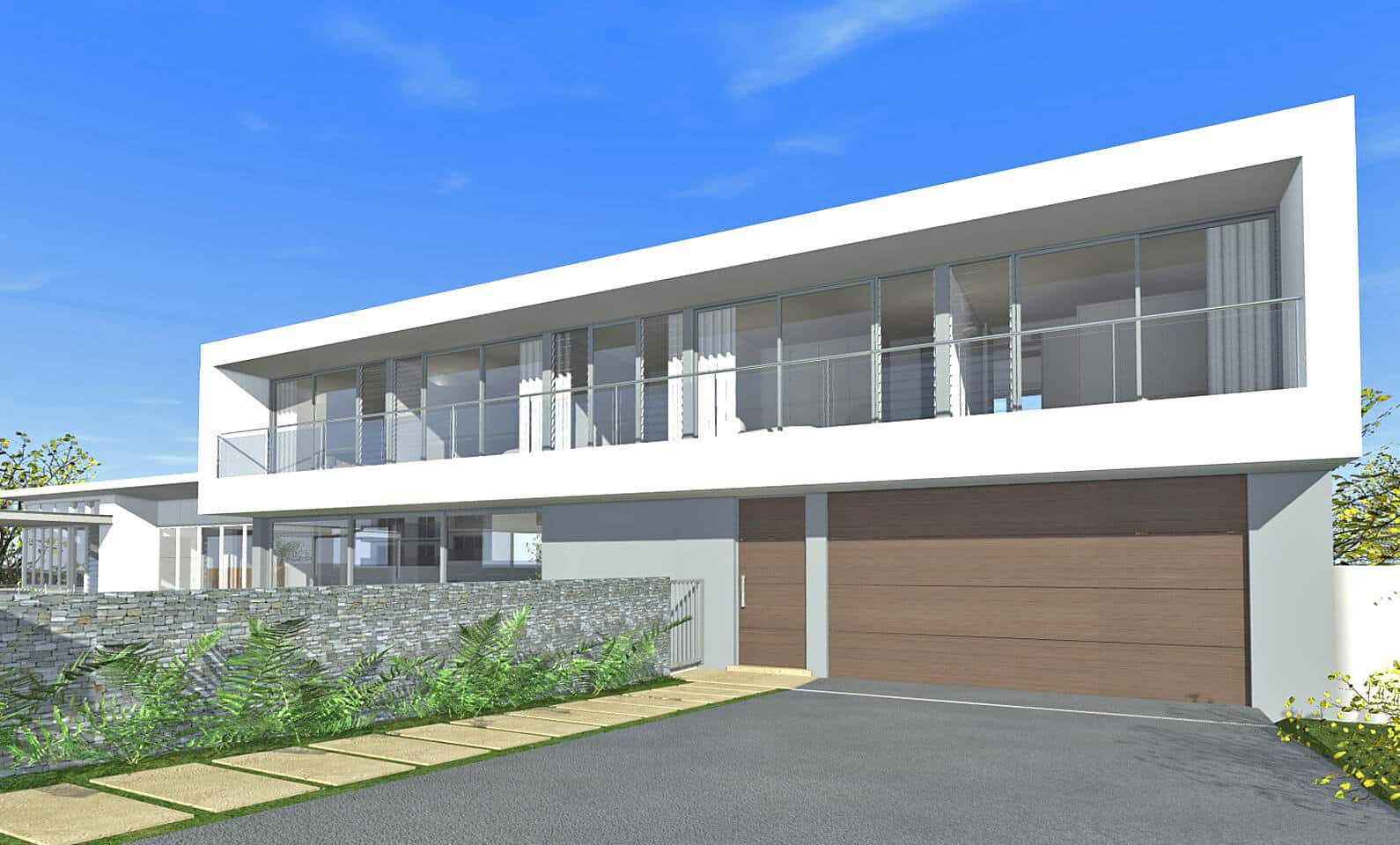 Architect design 3d concept long house seaforth House deaigns
