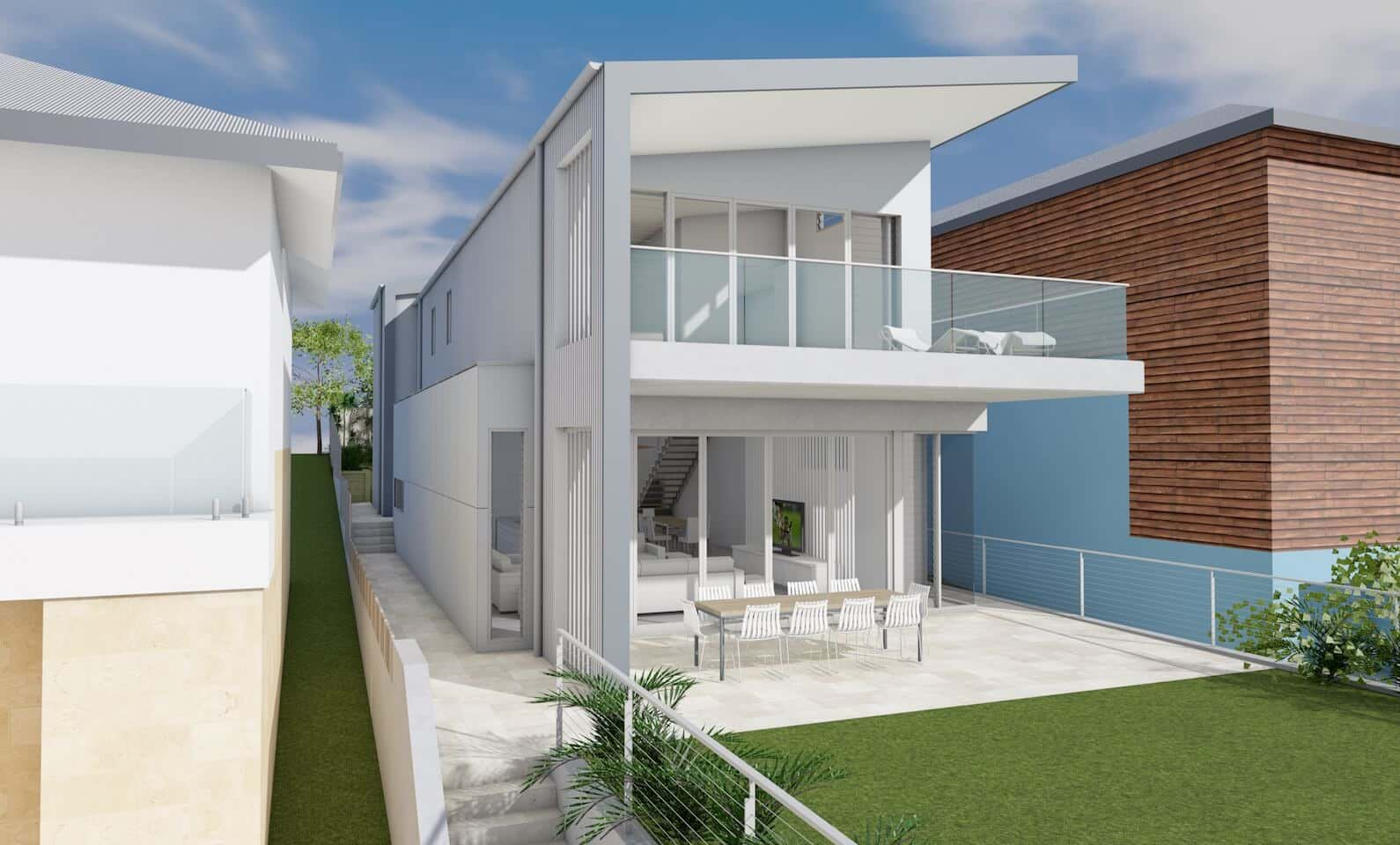 Architect design 3d concept ocean house freshwater for Architect to design my house