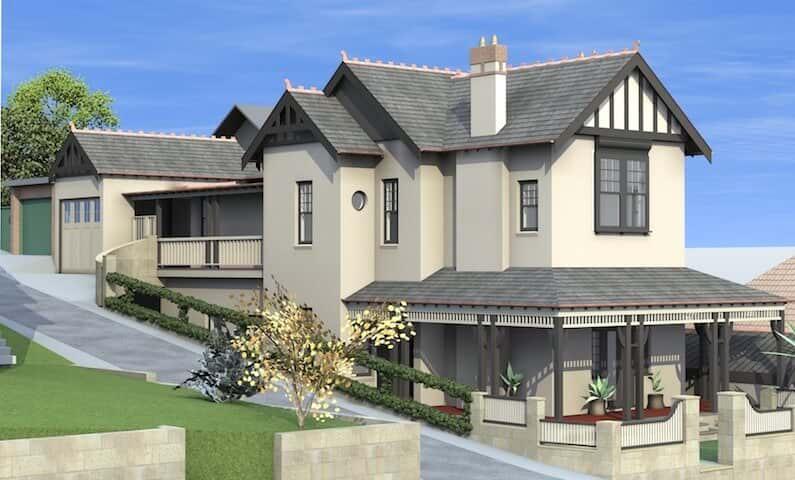 Architect Design 3D Concept Period House Manly